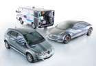 Brennstoffzellen bei Mercedes-Benz: Es begann 1993 mit einem Transporter MB 100. Die Brennstoffzellen- und Messtechnik an Bord wog 800 Kilogramm.