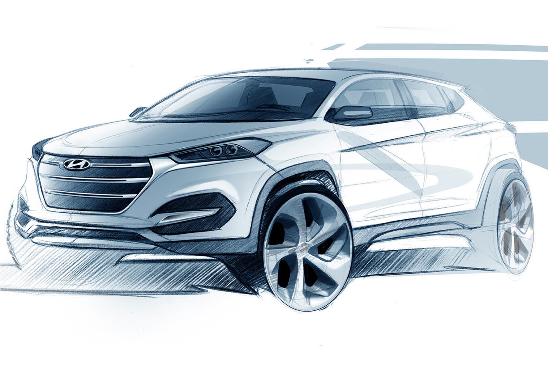 Hyundai Tucson Skizze