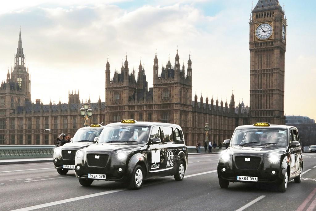 Die ersten elektrisch betriebenen Londoner Taxis sollen bis zu 560 km Reichweite schaffen