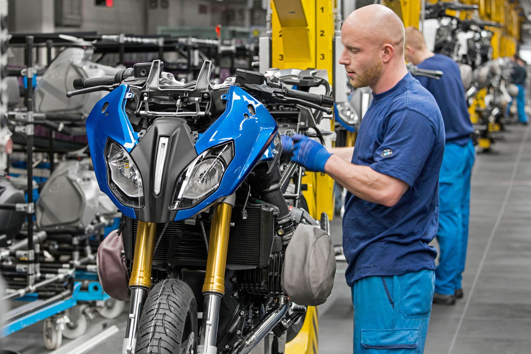 Produktionsstart der neuen R 1200 RS im BMW-Werk Berlin.