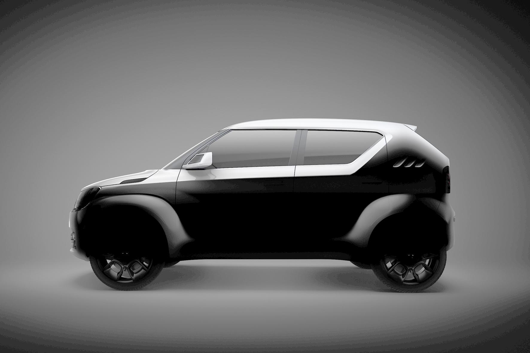 Der Suzuki iK-4 zeigt das Konzept eines weiteren kleinen Allrad-Fahrzeugs der Japaner.