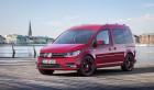 Volkswagen Caddy 2015 in Rot Standaufnahme