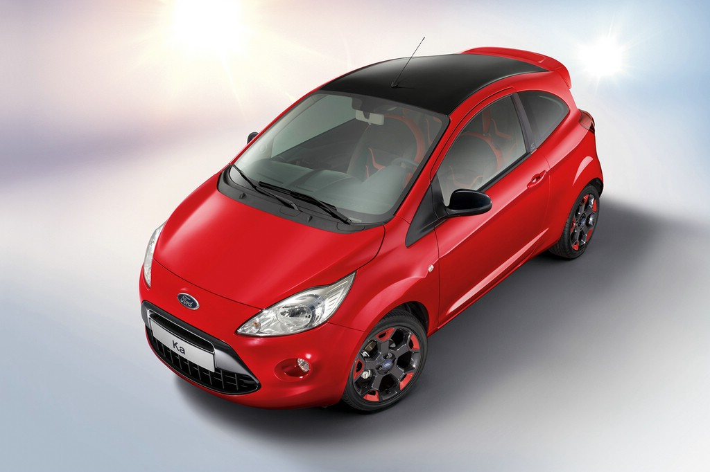 sondermodell ford ka red black edition. Black Bedroom Furniture Sets. Home Design Ideas