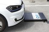 Automatisierte Fahrt auf die induktive Ladestation