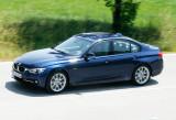 BMW 340i, Blau, Fahraufnahme