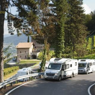 Überland Fahraufnahmen - Auf der Strecke zwischen Trento und Sardagna