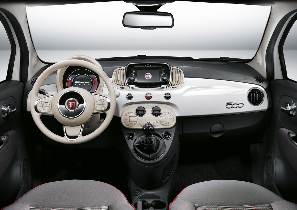 Fiat 500 Pop >> Galerie: Innenraum Fiat 500 Facelift 2015 | Bilder und Fotos
