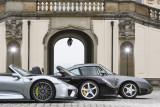 Bildvergleich Porsche 959, 918 Spyder und Carrera GT
