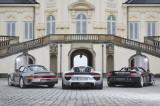 Porsche 959, 918 Spyder und Carrera GT, Heckvergleich