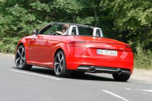 Audi TT Roadster, Fahraufnahme, Heck