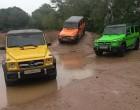 Mercedes-Benz G in verschiedenen Farben