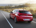 Opel Astra 2015, Fahraufnahme, Heck