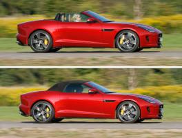 Jaguar F-Type R Cabrio AWD offen und geschlossen