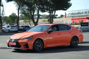 Lexus GS F, Orange, Standaufnahme