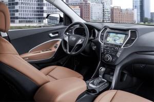 Hyundai Santa Fe Facelift 2016, Interieur